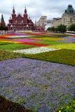 MOSCOU, RÚSSIA - 21 DE JULHO: Festival das flores no quadrado vermelho em h Imagens de Stock Royalty Free