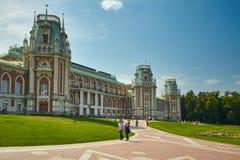 Moscou, Rússia - 19 de julho de 2017: Parque de Tsaritsyno no verão fotografia de stock