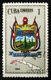 MOSCOU, RÚSSIA - 15 DE JULHO DE 2017: Um selo impresso em Cuba mostra o pi Fotos de Stock Royalty Free