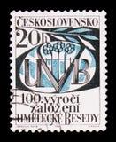 MOSCOU, RÚSSIA - 20 DE JUNHO DE 2017: Um selo impresso em Czechoslovaki Fotografia de Stock Royalty Free
