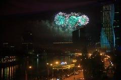 MOSCOU, RÚSSIA - 9 DE MAIO DE 2016: A celebração de Victory Day dentro Imagens de Stock