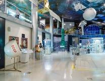 MOSCOU, RÚSSIA - 31 DE MAIO DE 2016: Exposição do museu de espaço Fotos de Stock
