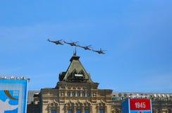 MOSCOU, RÚSSIA - 7 DE MAIO DE 2015: Helicópteros de ataque Foto de Stock
