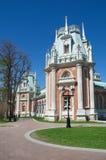 Moscou, Rússia - 7 de maio de 2015: A Museu-reserva Tsaritsyno O palácio grande foto de stock royalty free