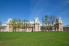 Moscou, Rússia - 7 de maio de 2015: A Museu-reserva Tsaritsyno O palácio grande imagem de stock royalty free