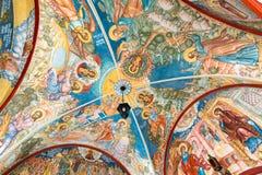 MOSCOU, RÚSSIA - 9 DE MARÇO DE 2014: Interior do templo do aviso, que foi construído em 1661 Foto de Stock