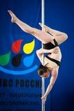 MOSCOU, RÚSSIA - 22 DE MARÇO: Elite 2014 do esporte de Polo o 22 de março de 2014 em Moscou, Rússia Imagens de Stock