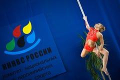 MOSCOU, RÚSSIA - 22 DE MARÇO: Elite 2014 do esporte de Polo o 22 de março de 2014 em Moscou, Rússia Foto de Stock
