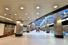 Moscou, Rússia - 17 de março 2018 Linha de Filevskiy da estação de metro de Vistavochnaya Imagem de Stock