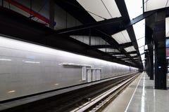 Moscou, Rússia - 17 de março 2018 Projeto preto e branco da estação de metro CSKA Foto de Stock Royalty Free