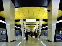Moscou, Rússia - 17 de março 2018 Shelepikha é a estação nova do metro de Moscou Imagens de Stock