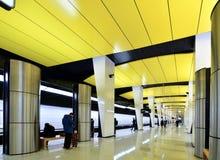 Moscou, Rússia - 17 de março 2018 Shelepikha é a estação nova do metro de Moscou Fotografia de Stock