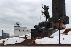 Moscou, Rússia - 22 de março de 2018: Victory Monument O monumento central do conjunto do parque no monte de Poklonnaya Foto de Stock