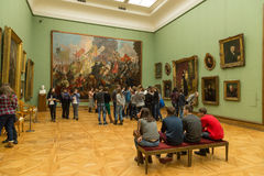 Moscou, Rússia - 5 de novembro de 2015: O estado Tretyakov Art Gallery em Moscou Fotografia de Stock Royalty Free