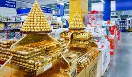 Moscou, Rússia - 30 de novembro: Metro do shopping sobre Foto de Stock