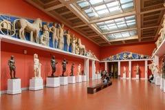 Moscou, Rússia - 21 de novembro de 2018: O museu de Pushkin de belas artes é o museu o maior da arte europeia em Moscou, Rússia fotos de stock royalty free