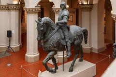 Moscou, Rússia - 21 de novembro de 2018: O museu de Pushkin de belas artes é o museu o maior da arte europeia em Moscou, Rússia imagem de stock