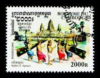 MOSCOU, RÚSSIA - 24 DE NOVEMBRO DE 2017: Um selo impresso em Camboja Foto de Stock