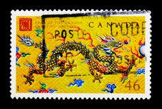 MOSCOU, RÚSSIA - 24 DE NOVEMBRO DE 2017: Um selo impresso em Canadá sh Foto de Stock Royalty Free