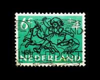 MOSCOU, RÚSSIA - 24 DE NOVEMBRO DE 2017: Um selo impresso em Netherlan Imagens de Stock Royalty Free