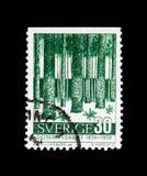 MOSCOU, RÚSSIA - 24 DE NOVEMBRO DE 2017: Um selo impresso na Suécia sh Foto de Stock