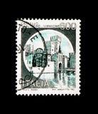 MOSCOU, RÚSSIA - 24 DE NOVEMBRO DE 2017: Um selo impresso no sho de Itália Foto de Stock
