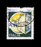 MOSCOU, RÚSSIA - 24 DE NOVEMBRO DE 2017: Um selo impresso no sho de Itália Foto de Stock Royalty Free