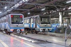 Moscou, Rússia - 27 de outubro de 2017: Presnya de Krasnaya do depósito do metro do metro Imagem de Stock