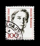 MOSCOU, RÚSSIA - 21 DE OUTUBRO DE 2017: Um selo impresso no alemão Fed fotos de stock