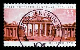 MOSCOU, RÚSSIA - 21 DE OUTUBRO DE 2017: Um selo impresso no alemão Fed imagem de stock