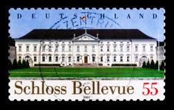 MOSCOU, RÚSSIA - 21 DE OUTUBRO DE 2017: Um selo impresso no alemão Fed imagem de stock royalty free