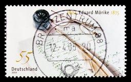 MOSCOU, RÚSSIA - 21 DE OUTUBRO DE 2017: Um selo impresso no alemão Fed foto de stock