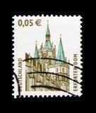 MOSCOU, RÚSSIA - 21 DE OUTUBRO DE 2017: Um selo impresso no alemão Fed fotografia de stock