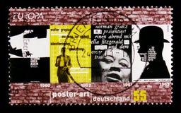 MOSCOU, RÚSSIA - 21 DE OUTUBRO DE 2017: Um selo impresso no alemão Fed imagens de stock royalty free