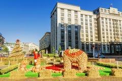 MOSCOU, RÚSSIA 24 DE SETEMBRO DE 2017: Autumn Festival dourado no Fotos de Stock Royalty Free