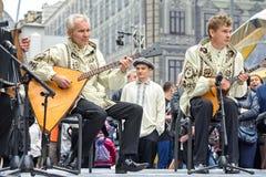 Moscou, Rússia - 11 de setembro de 2016: Dia da cidade de Moscou Moscou res Fotografia de Stock