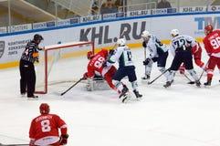 MOSCOU, RÚSSIA - 27 DE SETEMBRO DE 2016: M Plotnikov (88) e A Ug Fotos de Stock Royalty Free