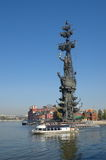 MOSCOU, RÚSSIA - 25 DE SETEMBRO DE 2015: Monumento a Peter The Great Imagens de Stock
