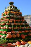 Moscou, Rússia - 23 de setembro 2017 A instalação de uma abóbora fresca em Autumn Festival dourado Foto de Stock