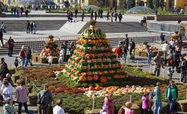 Moscou, Rússia - 23 de setembro 2017 outono dourado - festival gastronômico no quadrado de Manezhnaya Fotos de Stock Royalty Free