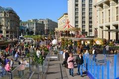Moscou, Rússia - 23 de setembro 2017 outono dourado - festival no quadrado de Manezhnaya Fotos de Stock Royalty Free