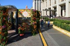 Moscou, Rússia - 23 de setembro 2017 outono dourado - festival no quadrado de Manezhnaya Imagens de Stock