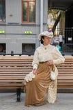 Moscou, Rússia, 08-18-2018 Festival histórico das épocas e das épocas fotografia de stock royalty free