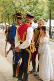 Moscou, Rússia, 08-18-2018 Festival histórico das épocas e das épocas imagem de stock