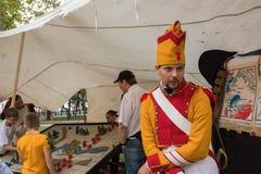 Moscou, Rússia, 08-18-2018 Festival histórico das épocas e das épocas foto de stock royalty free