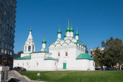 Moscou, Rússia - 09 21 2015 Igreja Simeon na rua de Povarskaya Construído em 1676 Fotos de Stock Royalty Free