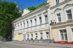 Moscou, Rússia, junho, 12, 2017, mansão velha na pista de Serebryanichesky, a casa 7 Fotos de Stock Royalty Free