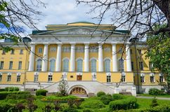 Moscou, Rússia, junho, 12, 2017, ninguém, o instituto de asiático e o africano estudam IAAS da universidade estadual MSU de Mosco Foto de Stock Royalty Free