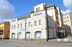 Moscou, Rússia, março, 20, 2016, cena do russo: a casa do comerciante M V Shilov na rua de Pokrovka Foi construído no centavo 19 Fotografia de Stock Royalty Free