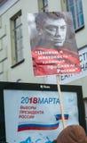 Moscou - Rússia, o 25 de fevereiro, março da memória de Boris Nemtsov Foto de Stock Royalty Free